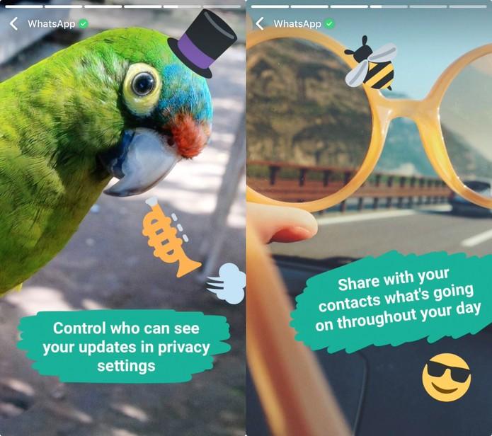 WhatsApp ganha status com fotos e vídeos; funcionalidade lembra o Snapchat Stories (Foto: Divulgação/WhatsApp)