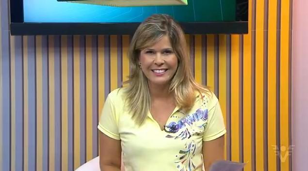 Nina Barbosa no Jornal da Tribuna 1ª Edição (Foto: arquivo)