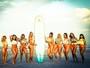 Candidatas ao Miss Bumbum 2016 fazem ensaio de surfe na praia