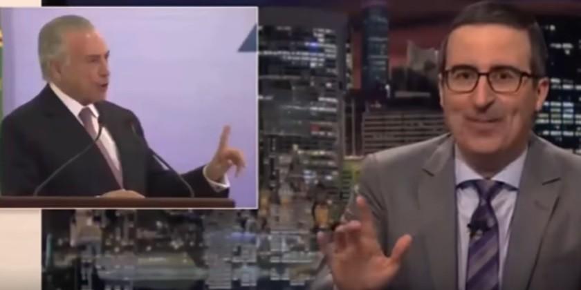 Comediante John Oliver critica Temer durante o primeiro episódio da quarta temporada de seu talk-show