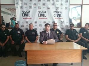 Coletiva Luciano Vidal delegado Polícia Civil (Foto: Luiz Felipe Falcão/G1)