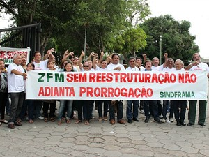 Servidores da Suframa querem melhorias salariais  (Foto: Jamile Alves/G1 AM)