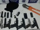 Grupo é preso com 6 armas e 91 munições em Bom Jesus da Lapa