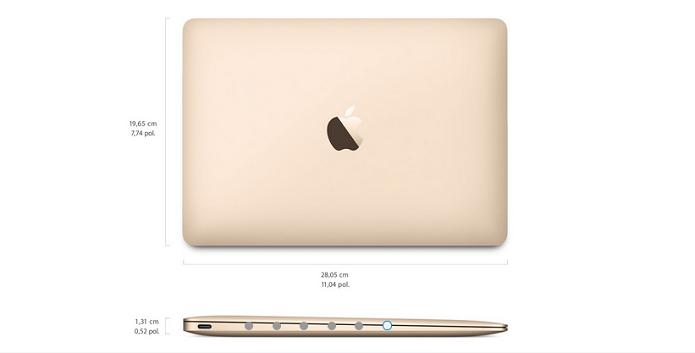 Dimensões do novo laptop são menores do que as dos antecessores (Foto: Divulgação/Apple)