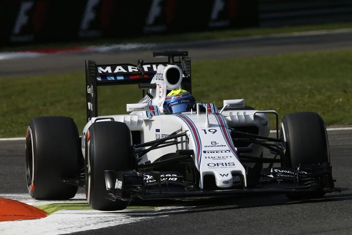 O brasileiro Felipe Massa guia a Williams na pista de Monza (Foto: Getty Images)