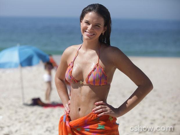 Bruna Marquezine praia  (Foto: Pedro Curi / TV Globo)