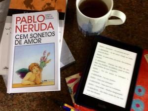 Aposentada resenha mais de 1,4 mil obras em site de venda de e-books (Foto: Arquivo Pessoal/ Leila de Carvalho e Gonçalves)