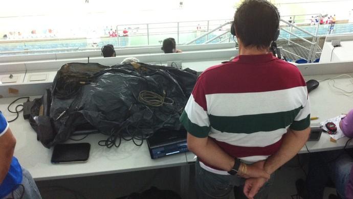 Arena das Dunas - tribuna de imprensa (Foto: Augusto Gomes)
