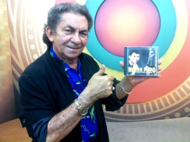 Cantor Nunes Filho e o novo CD (Foto: Suelen Golçalves/G1 AM)