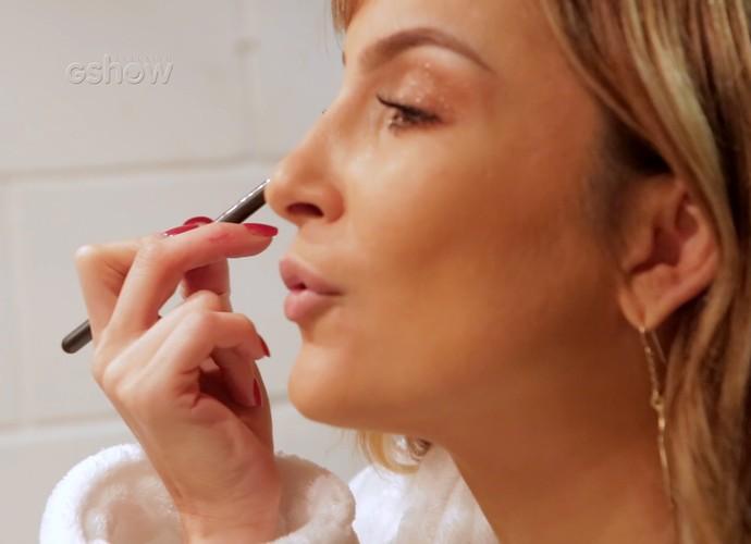 A técnica, como sempre, muito bem maquiada Claudia Leitte (Foto: Gshow)