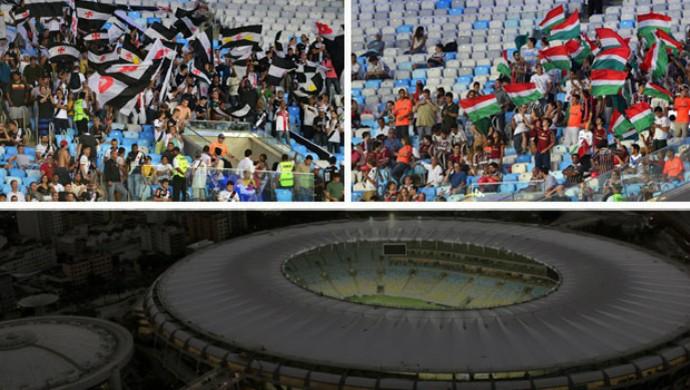 Torcidas Vasco e Fluminense Maracanã (Foto: Arte Esporte)