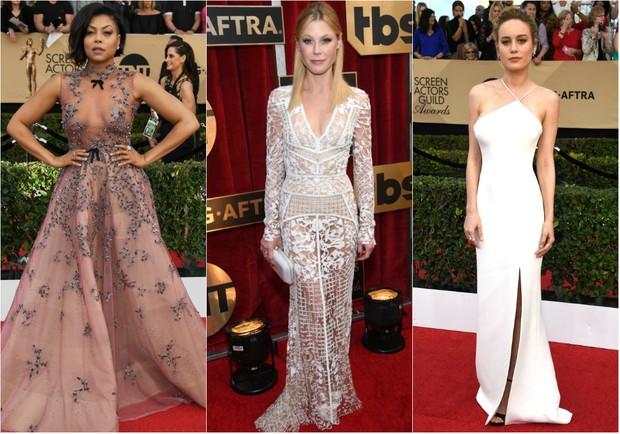 Taraji P. Henson, Julie Bowen e Brie Larson são eleitas as três mais bem-vestidas no SAG Awards 2017 (Foto: Getty Images | AFP)