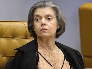 A ministra Cármen Lúcia durante sessão do STF (Foto: Nelson Jr./SCO/STF )
