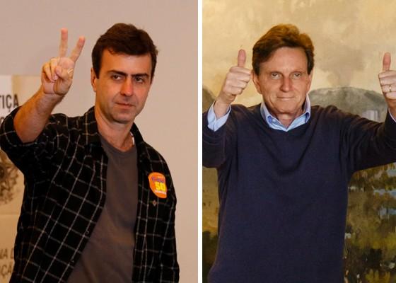 Marcelo Freixo (PSOL) e Marcelo Crivella (PRB) se enfrentarão no segundo turno no Rio de Janeiro (Foto: Agência O Globo)
