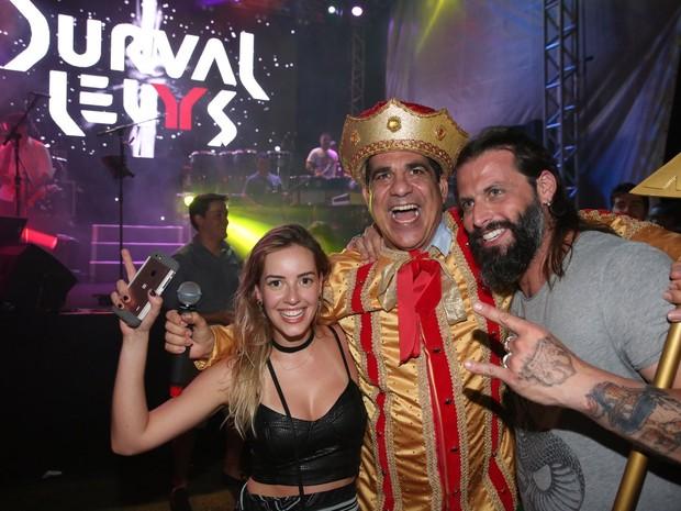 Henri Castelli e a namorada, Maria Fernanda Saad, em show de Durval Lelys em Salvador, na Bahia (Foto: Denilson Santos/ Ag. News)