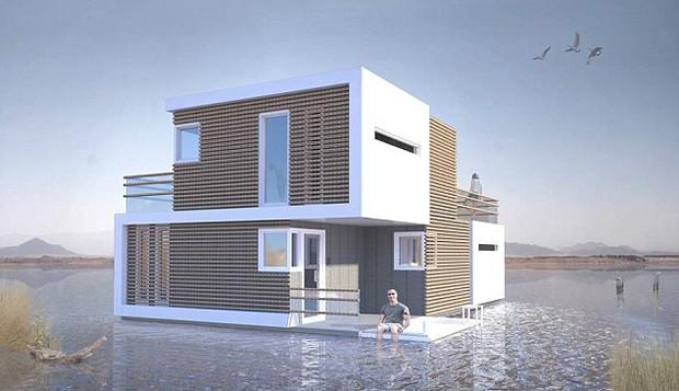 A casa, chamada de pré-nupcial, foi desenvolvida pelo estúdio de arquitetura holandês OBA (Foto: Reprodução)