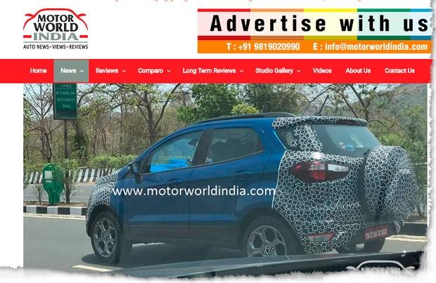 Novo Ford EcoSpo flagrado pelo Motor World India (Foto: Reprodução)