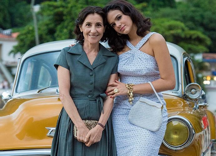 O estilo básico do dia a dia dos anos 40 e 50 também é representado na série (Foto: Estevam Avellar/Globo)