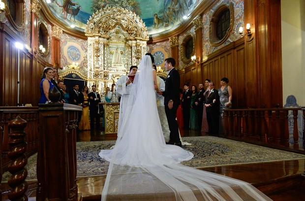 Casamento DH e Bruna Unzueta (Foto: Francisco Cepeda/AgNews)