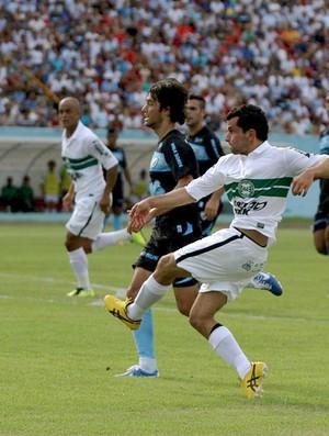 Eltinho durante a vitória do Coritiba sobre o Londrina (Foto: Divulgação / Site oficial do Coritiba)