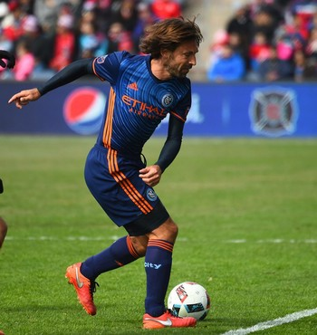 Pirlo New York City x Chicago Fire (Foto: Divulgação / Facebook)