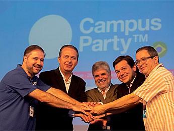 Governador Eduardo Campos na Campus Party Brasil (Foto: Flavia de Quadros / Divulgação / Indicefotos)