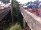Mureta de onde ambulância caiu na Av. Brasil, no Rio, estava em obras