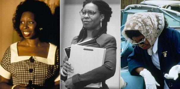 """Whoopi Goldberg em """"Corina, uma Babá Perfeita"""" (1994) e  """"O Sócio"""" (1996) (Foto: Divulgação/TV Globo)"""