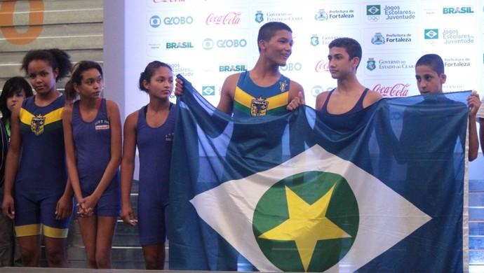 Equipe mato-grossense de Luta Olímpica (Foto: Gilvan Moreira/COB)