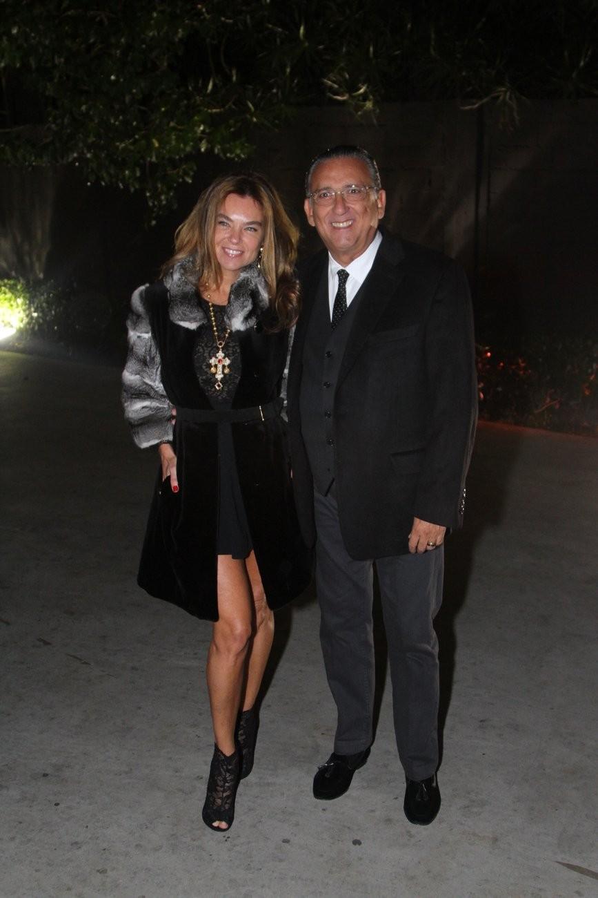 Galvão Bueno e a mulher, Desirée Soares (Foto: Marcelo Brammer e Thiago Duran/Agnews)
