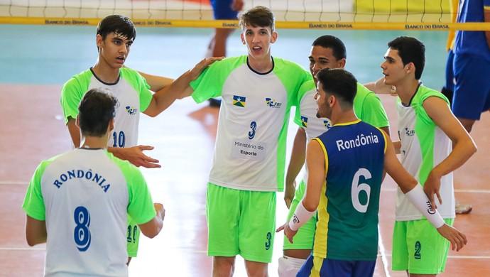 Seleção de Rondônia no Brasileiro Sub-20 (Foto: CBV/ Divulgação)