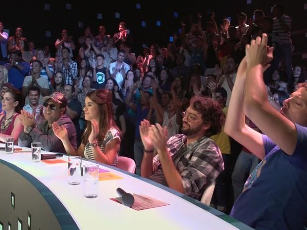 Jurados foram unânimes ao escolher o humorista Paulo Vieira como vencedor do programa (Foto: Reprodução/Multishow)