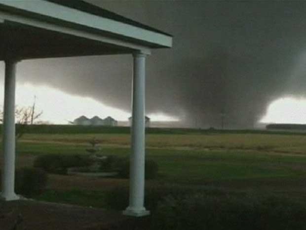 Tormenta atingiu estados como Mississippi e Arkansas. (Foto: BBC)
