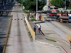 Via expressa do BRT é interditada para obras na Estação Bosque