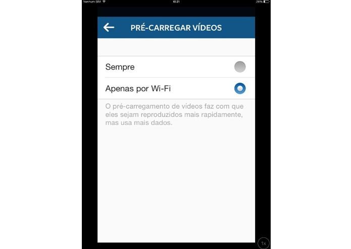 Desativando a reprodução automática dos vídeosno Instagram (Foto: Reprodução/ Lívia Dâmaso)