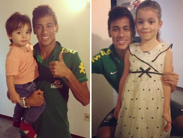 neymar filhos diego Tardelli  (Foto: Reprodução)