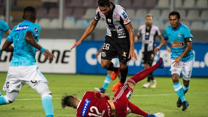 Sporting Cristal x Santos Thiago Maia (Foto: Ernesto Benavides/AFP)