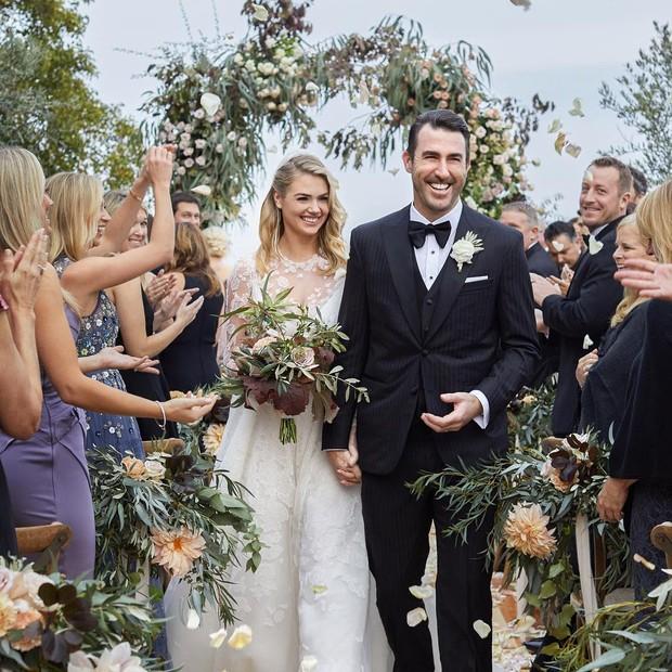 Foto do casamento de Kate Upton e Justin Verlander  (Foto: Reprodução/Instagram)