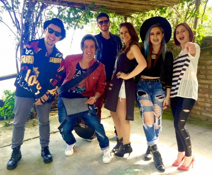 Banda Melody Mistura com Rodaika (Foto: Arquivo Pessoal)