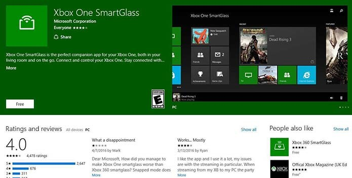 Xbox One Smartglass App Download
