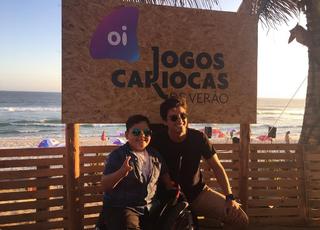 Davizinho e Rodrigo Simas: embaixadores dos Jogos Cariocas de Verão (Foto: Reprodução Instagram)