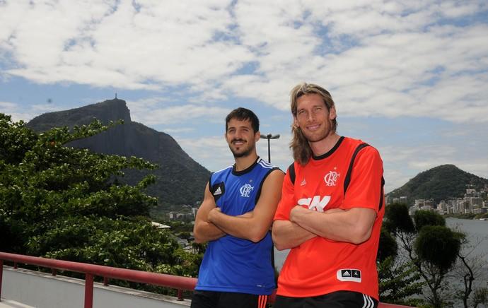 Laprovittola e Herrmann basquete Flamengo (Foto: André Durão / Globoesporte.com)