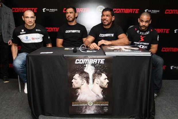 Da esquerda para direita: Vitor Miranda, Minotouro, Minotauro e Rafael Feijão (Foto: Anderson Borde/AG News)