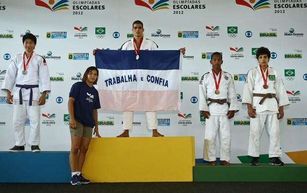 José Vicente no judô das Olimpíadas Escolares (Foto: Heuler Andrey/AGIF/COB)
