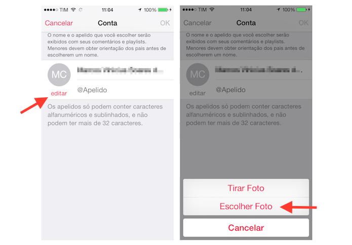 Alterando a foto de perfil do Apple Music pelo iPhone (Foto: Reprodução/Marvin Costa)