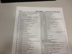 Documento aponta possíveis nomes de índios que recebem sem trabalhar (Foto: Marcelo Marques/ G1 RR)