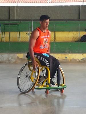 Nill é um dos atletas da equipe de basquete em cadeira de rodas de Porto Velho (Foto: Nill Araújo/ Arquivo pessoal)