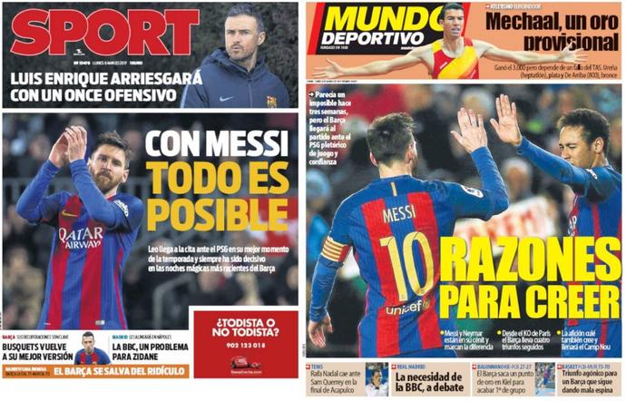 Capas jornais Barcelona (Foto: Reprodução)