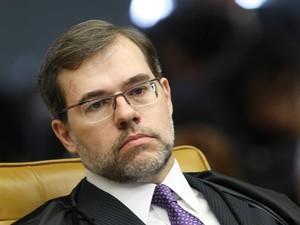 O ministro Toffoli opinou sobre o desmembramento sem tocar no seu suposto impedimento no caso.   (Foto: Nelson Jr./SCO/STF)