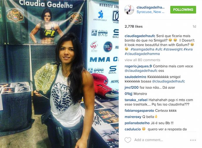 Claudia Gadelha, UFC, Instagram